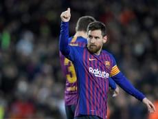 Lionel Messi a ouvert le score pour le Barça contre Eibar au Camp Nou. AFP
