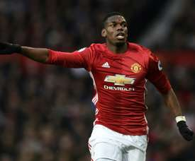 Paul Pogba if fifth on the list having played over 2500 minutes for United. AFP