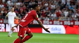 Wesley Said buteur lors de la victoire 3-1 sur Lens en match de barrage retour. AFP