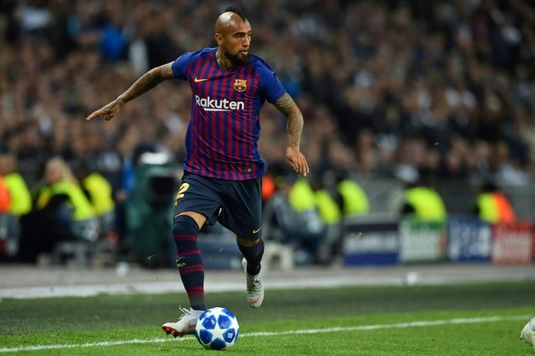 Vidal quiere ganar todo en 2019. AFP