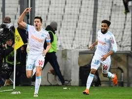 Marseille e Nantes empataram a 1-1. AFP