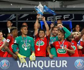 Les joueurs du PSG ont fait preuve d'un grand respect. AFP