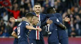 El PSG se dio un festín en la visita del Angers. AFP