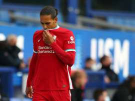 Van Dijk could miss the whole season. AFP