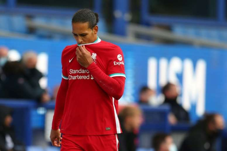 Van Dijk could miss the whole season. AFP