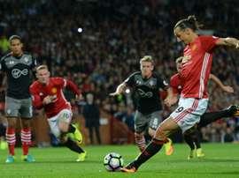 El delantero sueco está siendo uno de los jugadores más destacados del United. AFP