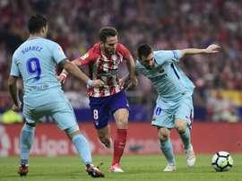 Atlético e Barcelona dividem pontos.