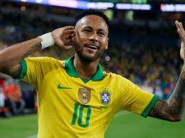 Neymar réussit son retour avec le Brésil. AFP