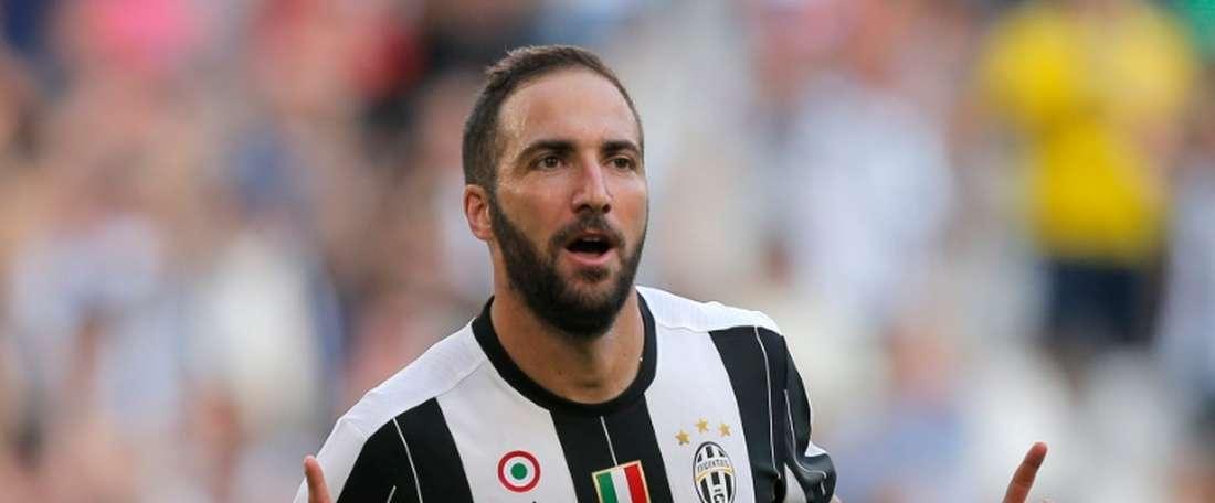 Gonzalo Higuain, auteur dun doublé avec la Juventus contre Sassuolo, le 10 septembre 2016. AFP