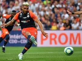 Delort prolonge son contrat à Montpellier. AFP