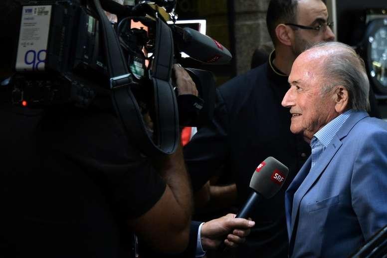 Joseph Blatter compartió una curiosa anécdota. AFP