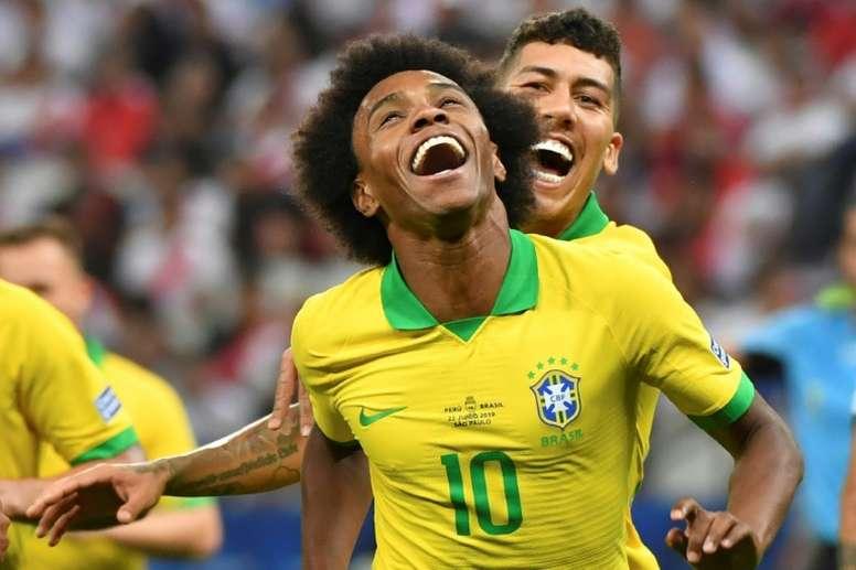 Pour Willian, personne n'arrive à la cheville de Ronaldinho. AFP