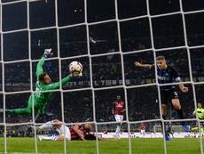 L'Inter Milan est sortie victorieuse in extremis du derby. AFP