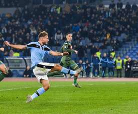 Immobile is the first scorer in the big 5 leagues to reach 20 goals. AFP