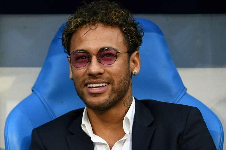 Neymar, avant la finale de Coupe de France entre Les Herbiers et le PSG. AFP