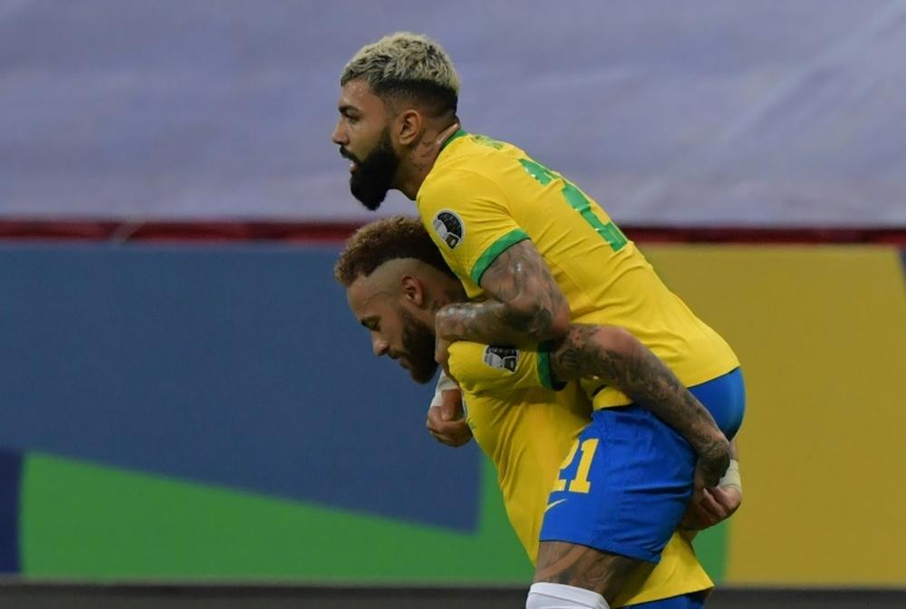 Brasil continua invicto.AFP