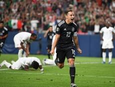 Andrés Guardado en quarts de la Gold Cup à Denver, le 19/06/2019. AFP