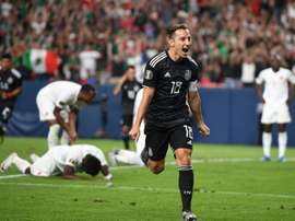 Andrés Guardado en quarts de la Gold Cup à Denver, le 19/06/2019. AFP