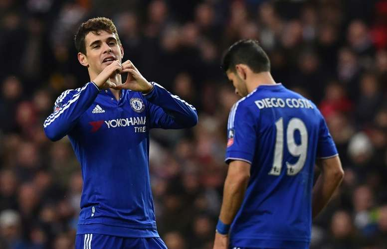 Oscar will leave the club in January. AFP