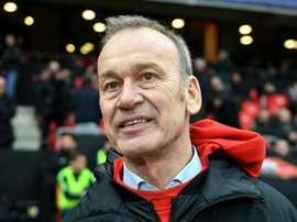 Jean-Marc Furlan lors du déplacement de son équipe à Rennes. AFP