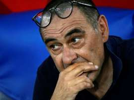Maurizio Sarri still has a contract with the club. AFP