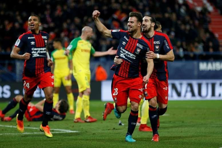 Les compos probables du match de Ligue 1 entre Caen et Nantes. AFP