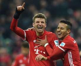 El Bayern volvió a golear. AFP