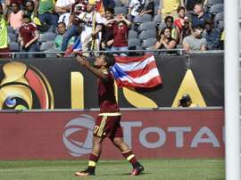 Le Vénézuélien Josef Martinez, auteur du but de la victoire face à la Jamaïque en Copa America, le 5 juin 2016 à Chicago