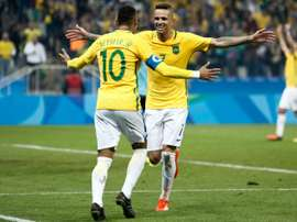 Neymar et Luan entretiennent une bonne relation. AFP