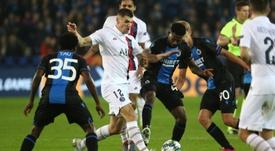 Meunier lesionó a Hazard con una entrada a destiempo. AFP