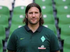 L'ancien international allemand Torsten Frings, alors entraîneur adjoint du Werder Brême. AFP