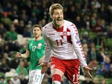 Bendtner pourrait manquer le Mondial. AFP