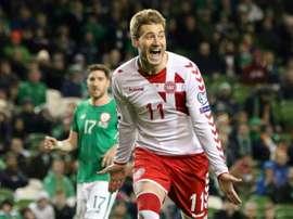 Bendtner es un fijo en esto de las polémicas extradeportivas. AFP
