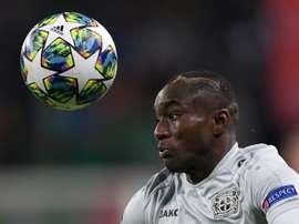 Nouveau but de Moussa Diaby avec le Bayer Leverkusen. AFP