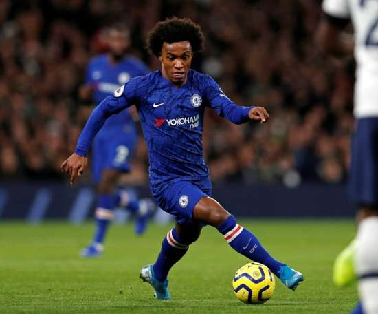 Lampard confirmed Chelsea are negotiating Willian's contract renewal. AFP