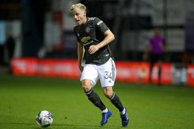 Van de Beek has played very little since joining Man Utd. AFP