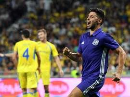 O Marseille foi à Eslovênia empatar a uma bola. AFP