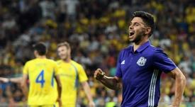 Morgan Sanson a assuré légalisation pour Marseille contre le NK Domzale. AFP