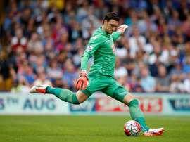 Le gardien anglais Alex McCarthy, alors sous le maillot de Crystal Palace contre Arsenal, le 16 août 2015 à Londres