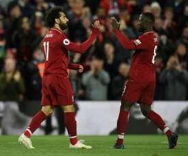 Mané aseguró que se ha reconciliado con Salah. AFP