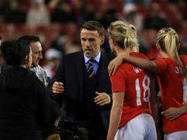 Le sélectionneur de l'équipe féminine de lAngleterre Phil Neville.