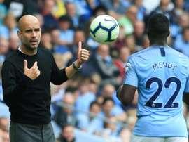 L'émouvant message de Mendy à Guardiola. AFP