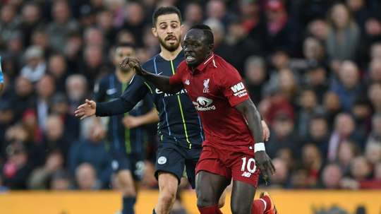 Sadio Mane has a minor hand injury. AFP