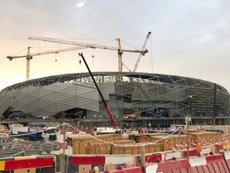 Vue du chantier du stade Education City à Doha. AFP