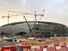 Vue du chantier du stade Education City à Doha. AFP
