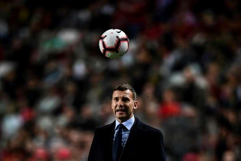 Shevchenko podría ser el próximo entrenador del Milan. AFP