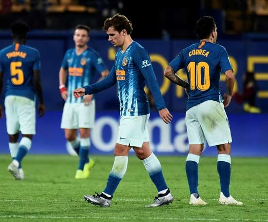 Pas de chance pour l'Atlético. AFP