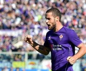 LEspagnol Mario Suarez, buteur pour la Fiorentina contre Frosinone au stade Artemio Franchi à Florence, le 1er novembre 2015
