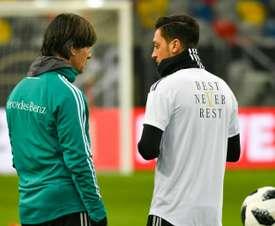 Löw n'a pas pu rencontrer Özil. AFP