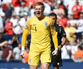 Pickford made history on Sunday. AFP